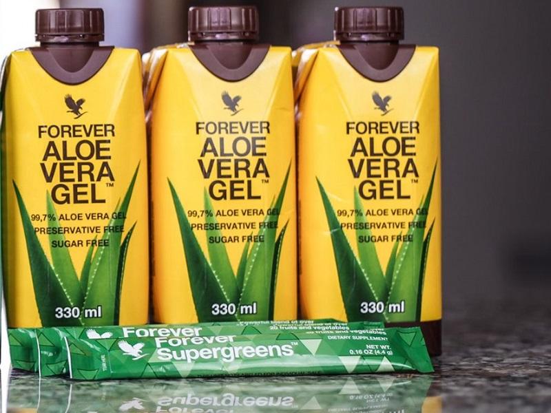 Aloe Vera mini più l'integratore Supergreens Forever
