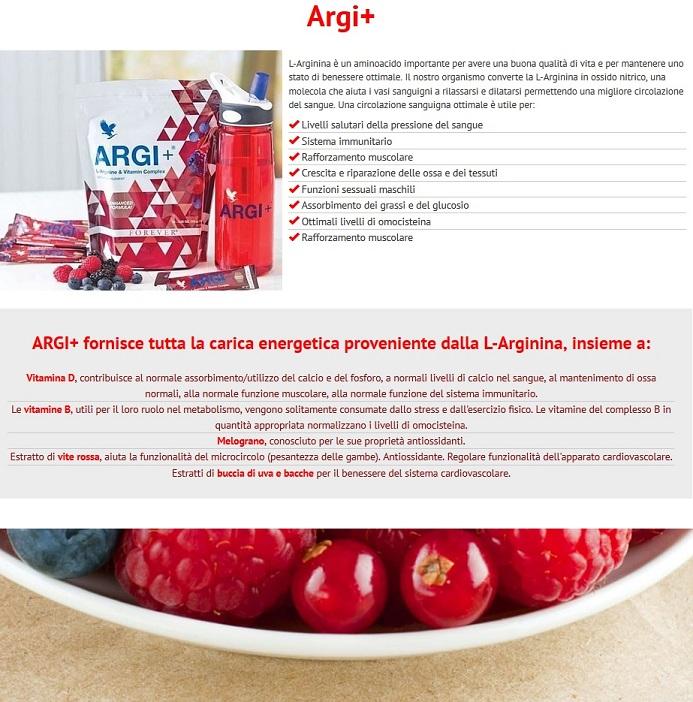 Informazioni sul nostro integratore con Arginina