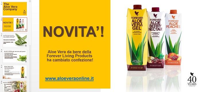 nuova presentazione aziendale della Forever sulle bevande all'Aloe Vera